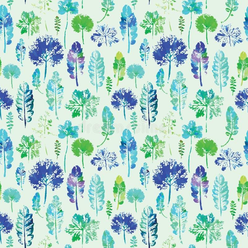 Download Waterverfpatroon Van Achtergrond Van De Bladeren De Naadloze Textuur Vector Illustratie - Illustratie bestaande uit tekening, handmade: 54085953