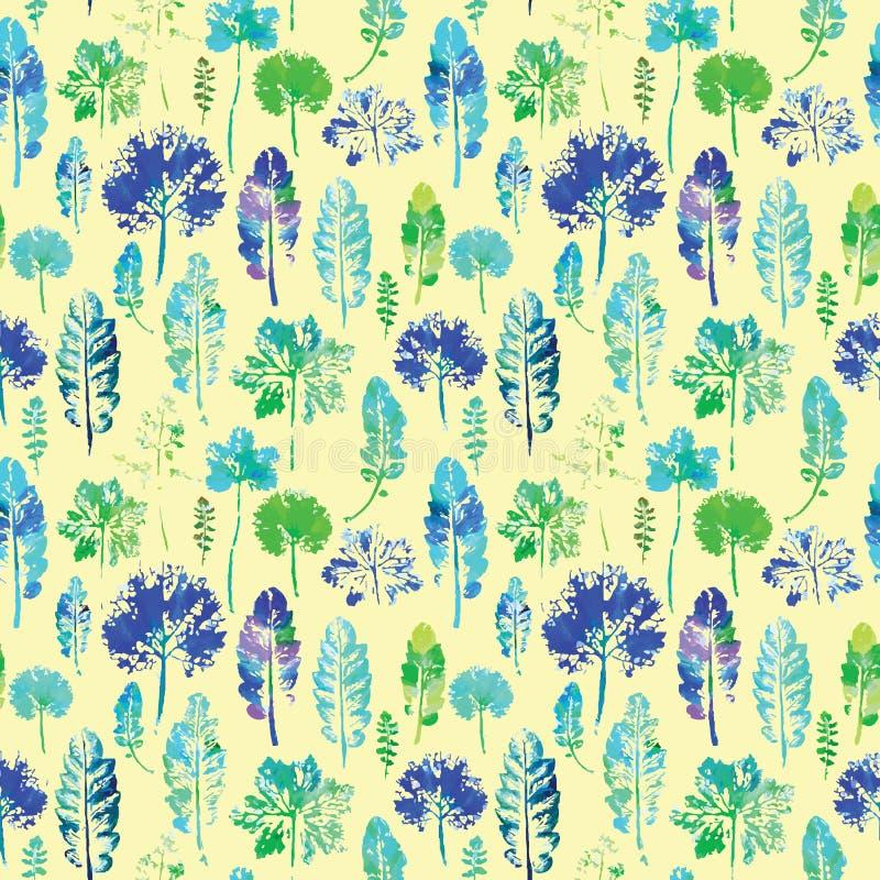 Download Waterverfpatroon Van Achtergrond Van De Bladeren De Naadloze Textuur Vector Illustratie - Illustratie bestaande uit blad, achtergronden: 54086420