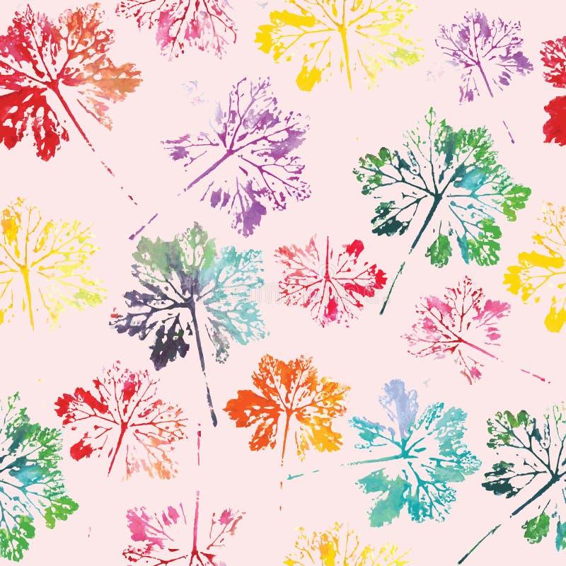 Download Waterverfpatroon Van Achtergrond Van De Bladeren De Naadloze Textuur Vector Illustratie - Illustratie bestaande uit stof, kleur: 54086834