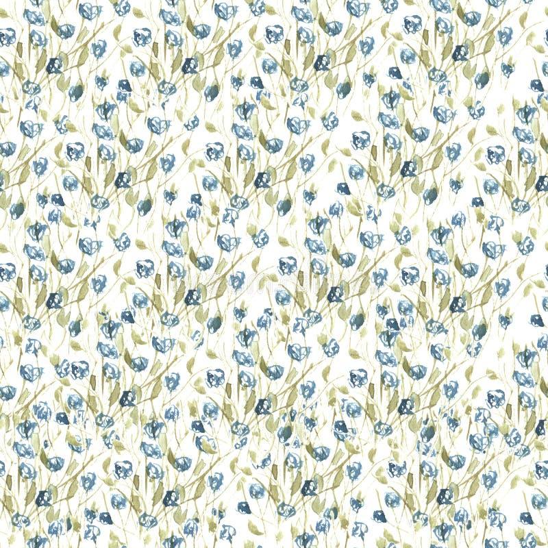 Waterverfpatroon van wildflowers stock illustratie