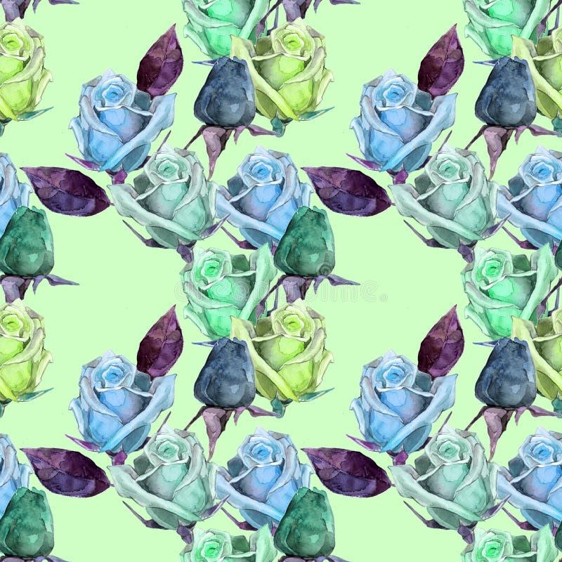 Waterverfrozen op patroon stock illustratie