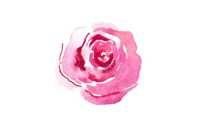 Waterverftekening van verse tuinbloemen, het boeketaquarelle van de de zomerweide het schilderen royalty-vrije illustratie