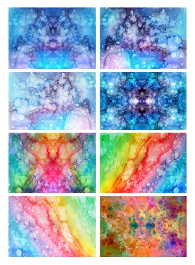 Waterverftextuur in regenboogkleuren vector illustratie