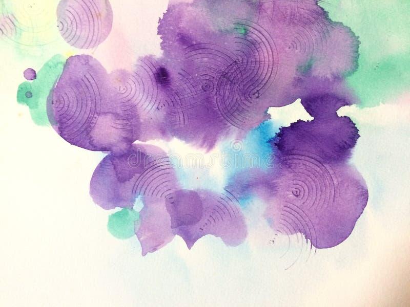 Waterverfviooltje stock afbeelding