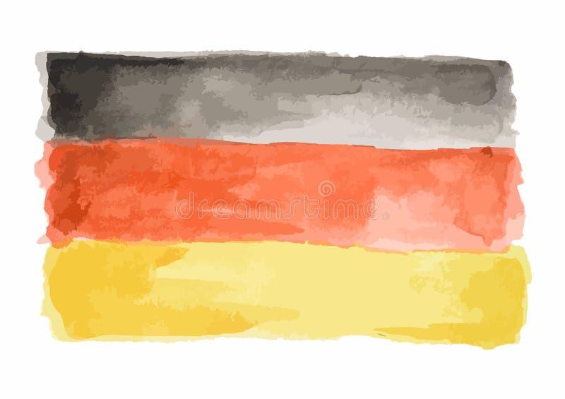 Waterverfvlag van Duitsland vector illustratie