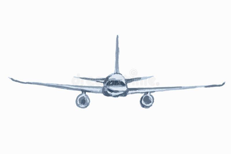 waterverfvliegtuig stock illustratie