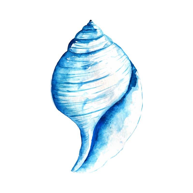 Waterverfzeeschelp vector illustratie