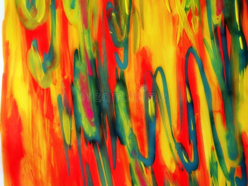 Waterverven geschilderde samenvatting royalty-vrije stock foto