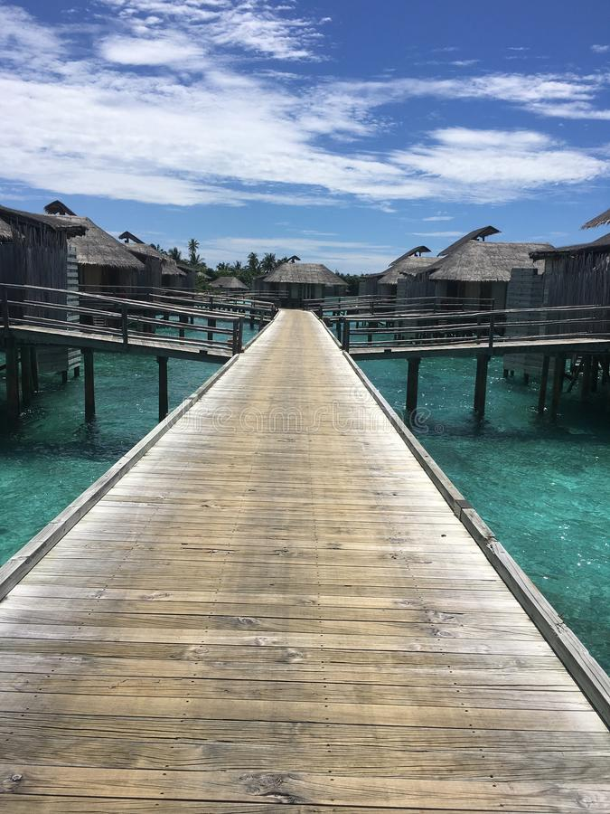 Watervillas royalty free stock photography