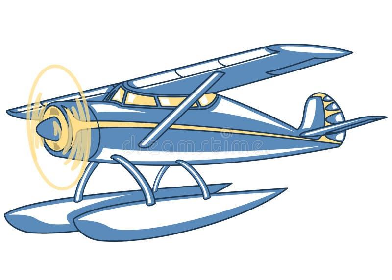 Watervliegtuig royalty-vrije illustratie