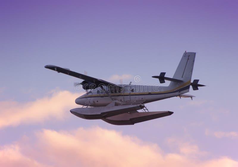 Watervliegtuig bij dageraad stock afbeeldingen