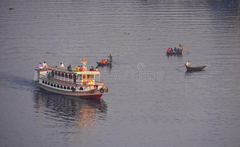 Watervoertuig in Dhaka Bangladesh royalty-vrije stock afbeeldingen