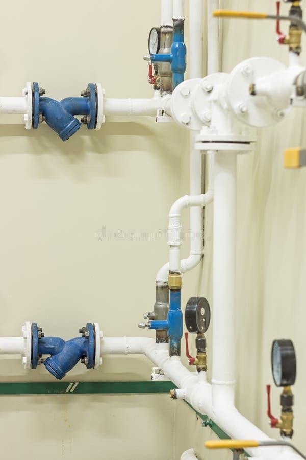 Watervoorzieningsknoop voor het huis stock afbeelding