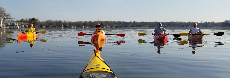 Waterway, Boat, Sea Kayak, Oar stock image