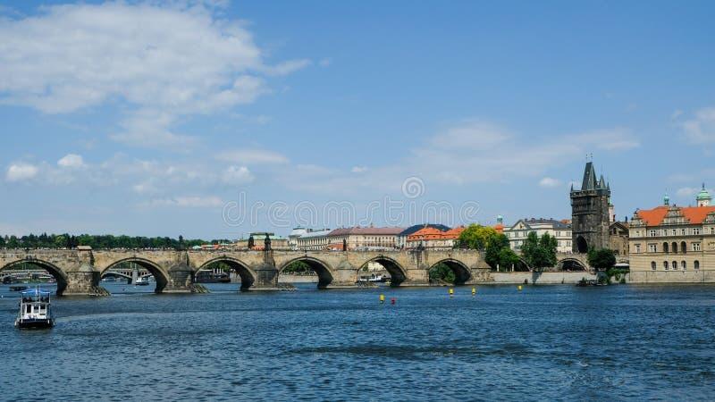 Waterway, Bridge, Sky, River royalty free stock images