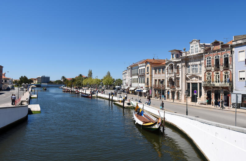 Waterway and house in Aveiro,. Portugal stock images