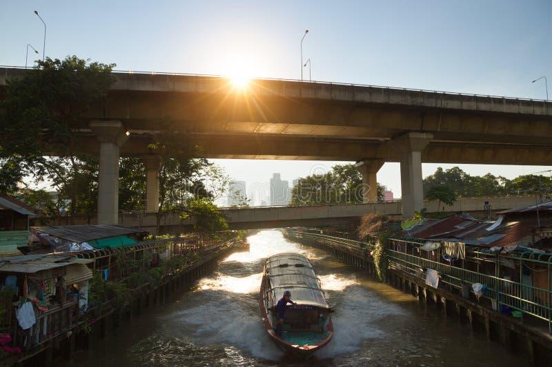 Waterway Khlong of Bangkok. Thailand stock photos