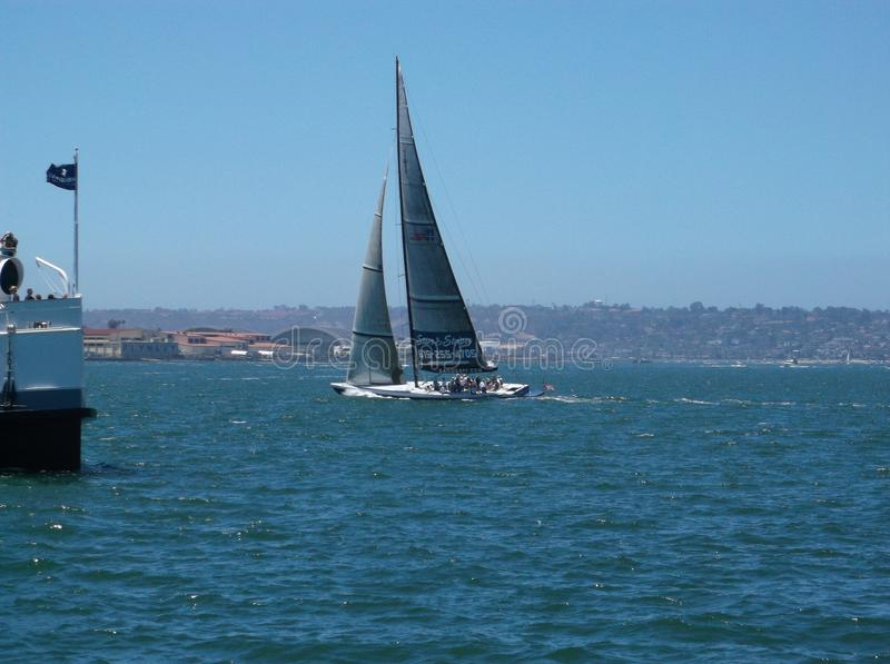 Waterway, Sail, Water Transportation, Sailboat royalty free stock images