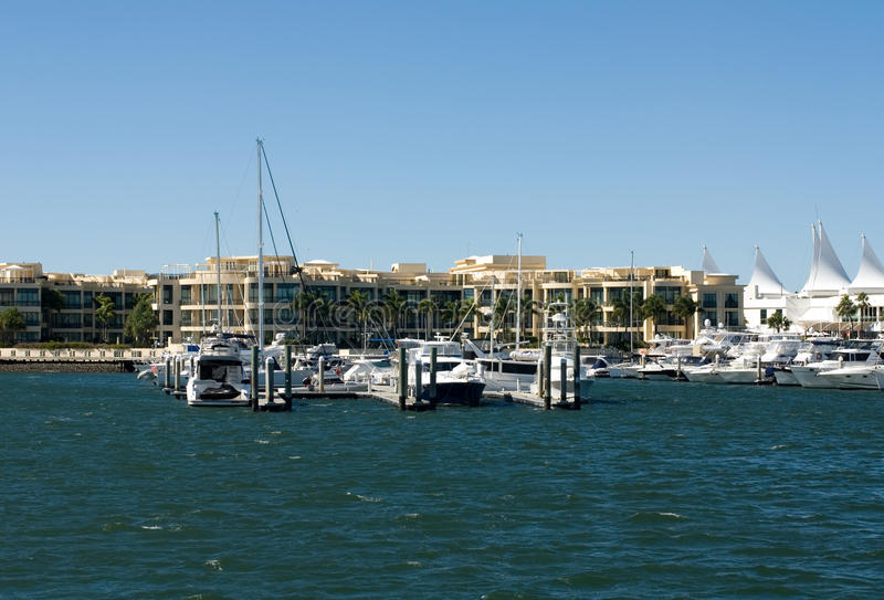 Download Waterway Scene stock image. Image of boat, residential - 21735723