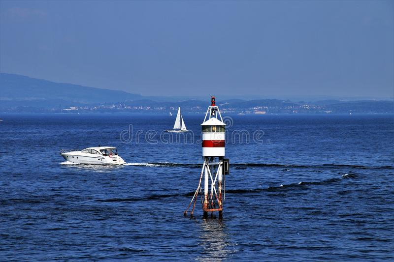 Waterway, Sea, Lighthouse, Ocean royalty free stock photos