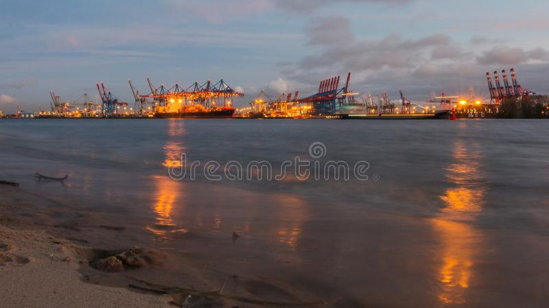 Waterway, Sea, Port, Container Ship stock photos