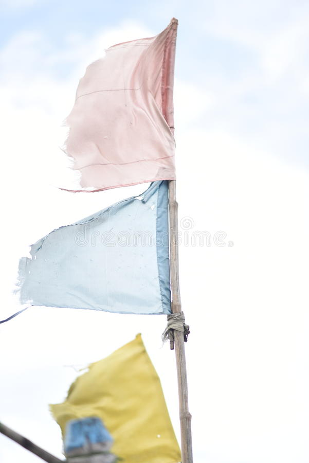Waterway signal. For hundreds of years inland river boats and ships have been using these flags as signal stock photography