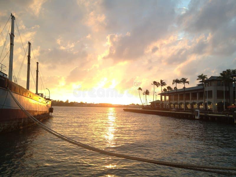 Waterway, Sky, Sunset, Sea stock photography