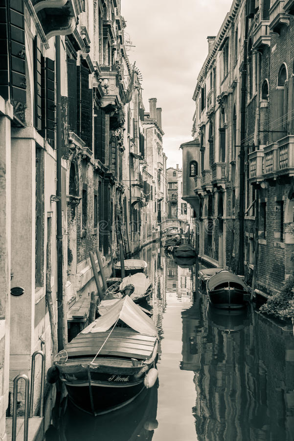 Waterway of Venice. One of the waterway of Venice in May 2016 royalty free stock photo