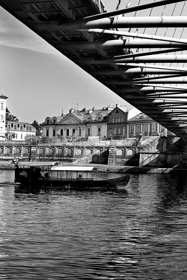 Waterway, Water, Black And White, Reflection royalty free stock image