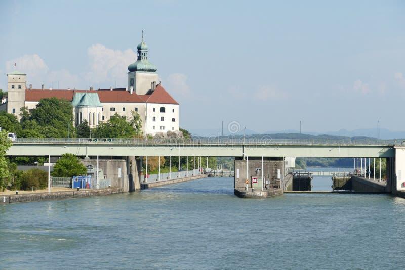 Waterway, Water Transportation, River, Bridge royalty free stock photo