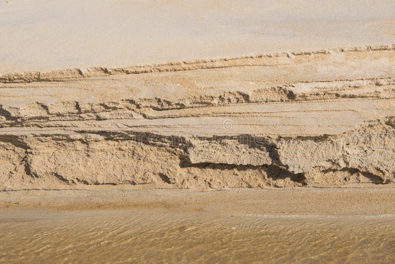 Waterweg die door het zand op strand vloeien royalty-vrije stock fotografie