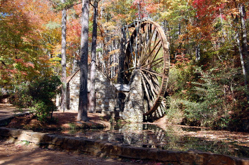 waterwheel δάση στοκ εικόνες