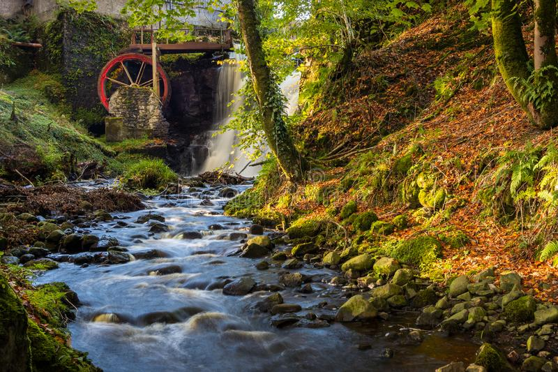Waterwheel на Glenariff долина графства антрима, Ирландии стоковые изображения rf