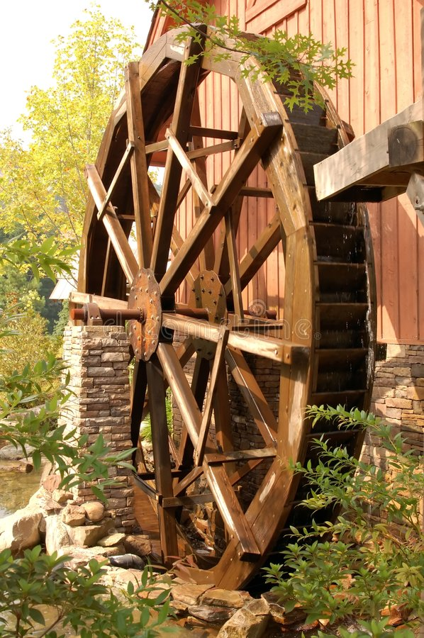 Waterwheel fotos de stock