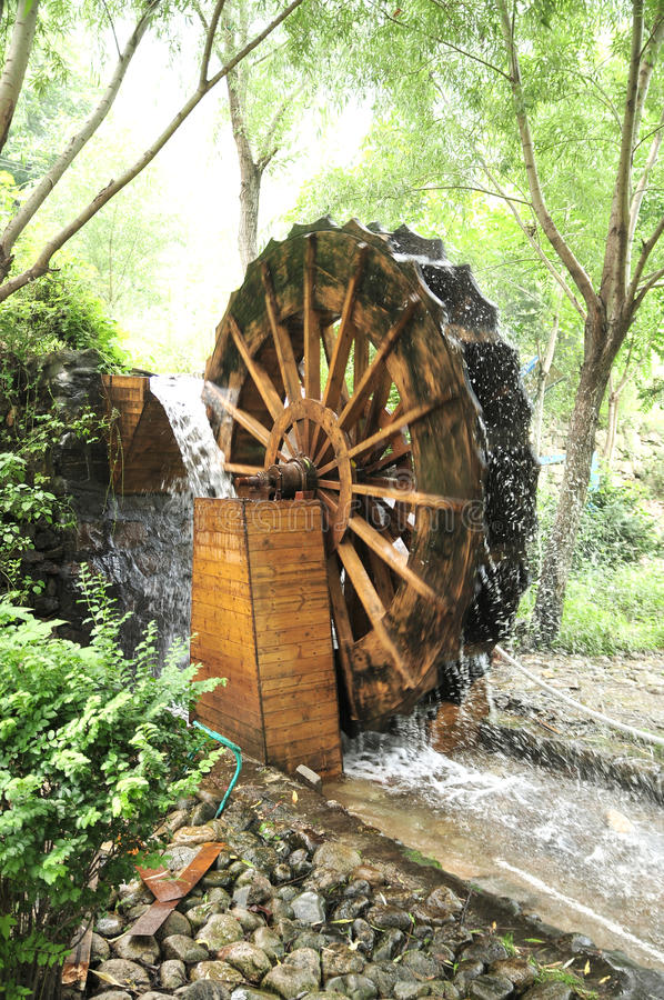 Waterwheel image stock