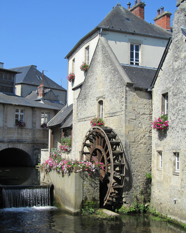 Waterwheel, Bayeux image stock