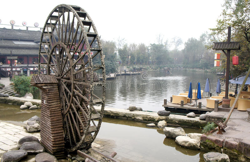 Waterwheel in china stock photo