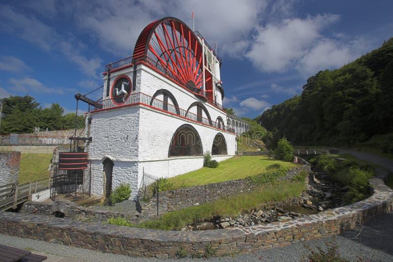 Waterwheel de Laxey foto de archivo