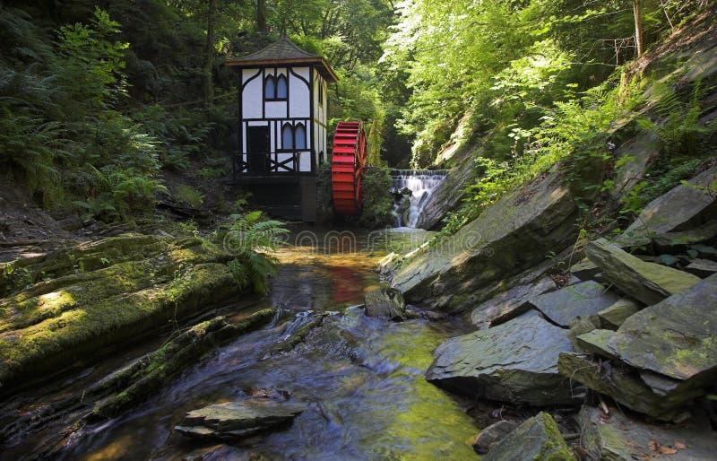 Waterwheel do vale de Groudle fotos de stock royalty free