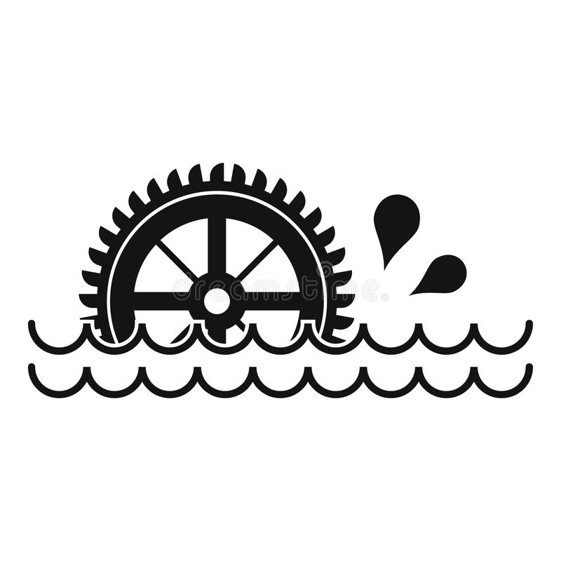Free Waterwheel Icon, Simple Style Stock Images - 86382514