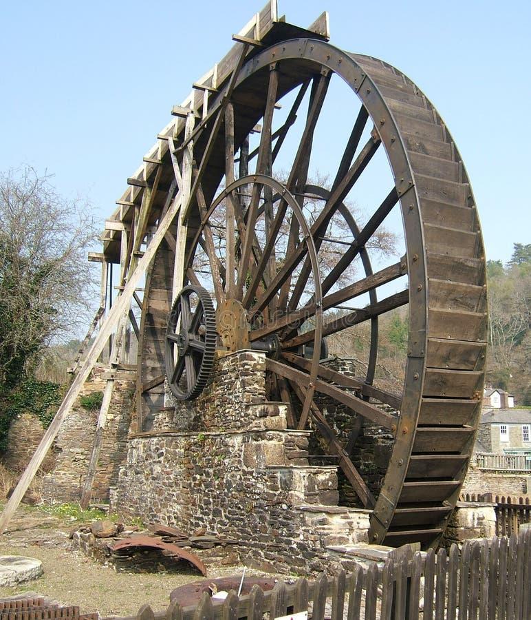 Waterwiel van Morwellham-Kade Devon het UK stock foto's