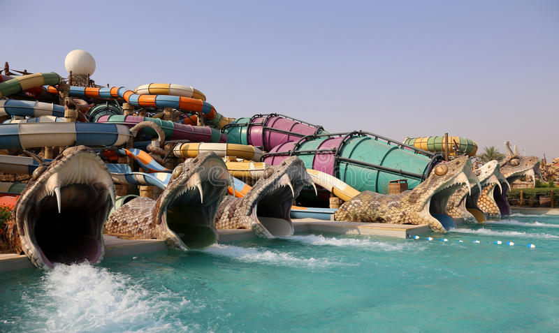 Waterworld Abu Dhabi royalty free stock photo