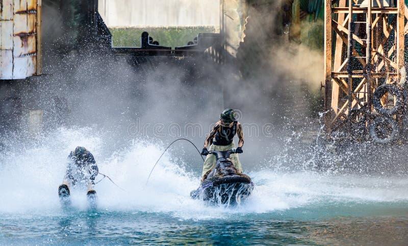 Waterworld bij Universele Studio's royalty-vrije stock fotografie