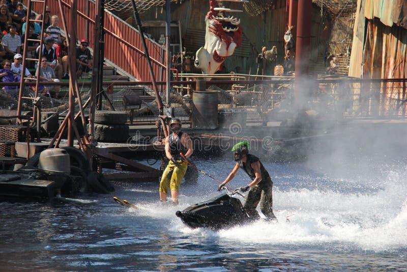 Waterworld em estúdios universais Hollywood fotografia de stock