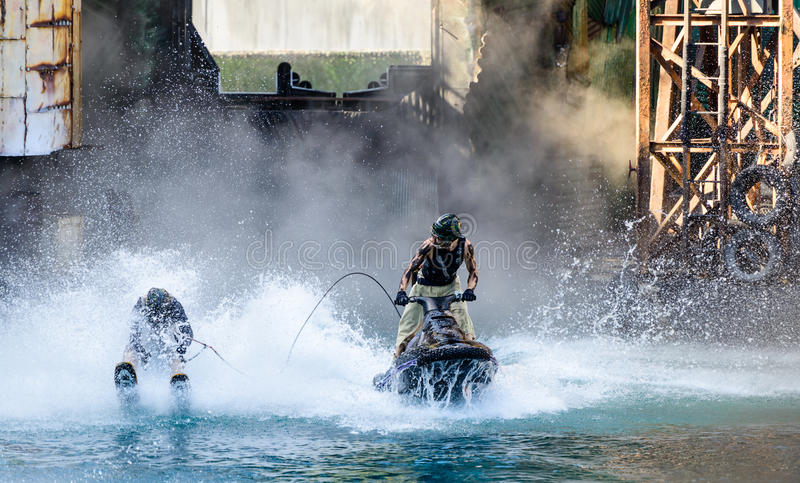 Waterworld przy universal studio fotografia royalty free