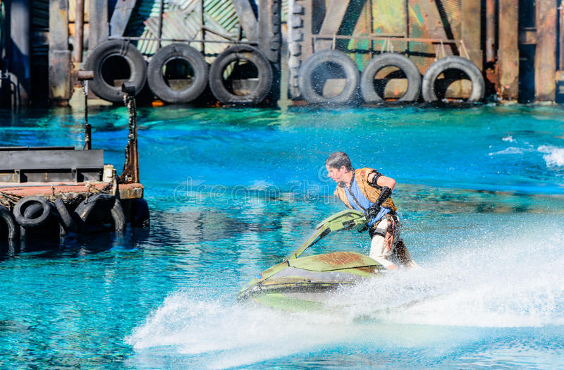 Waterworld przy universal studio obraz stock