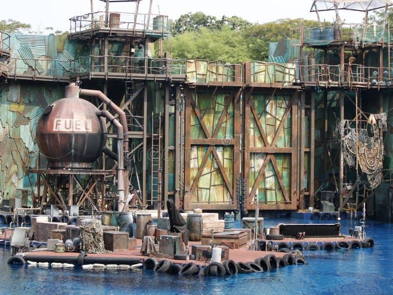 Waterworld toont decoratie stock afbeelding