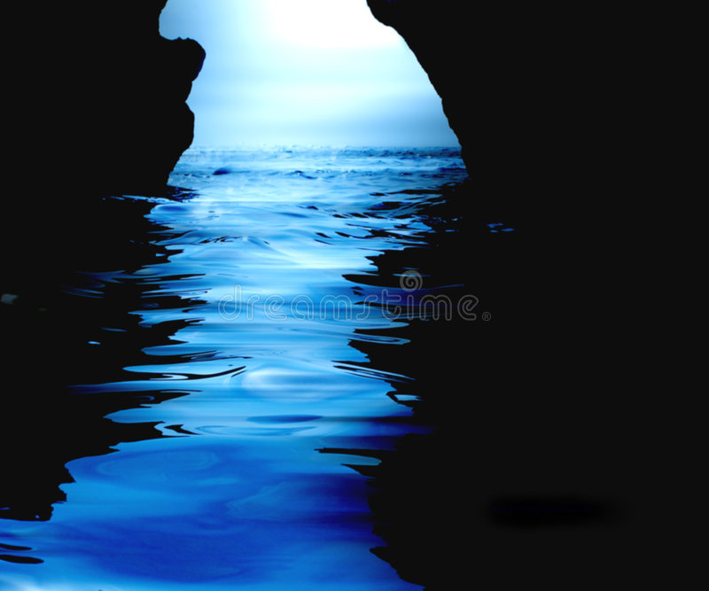 Watery cave. View from within a watery cave vector illustration