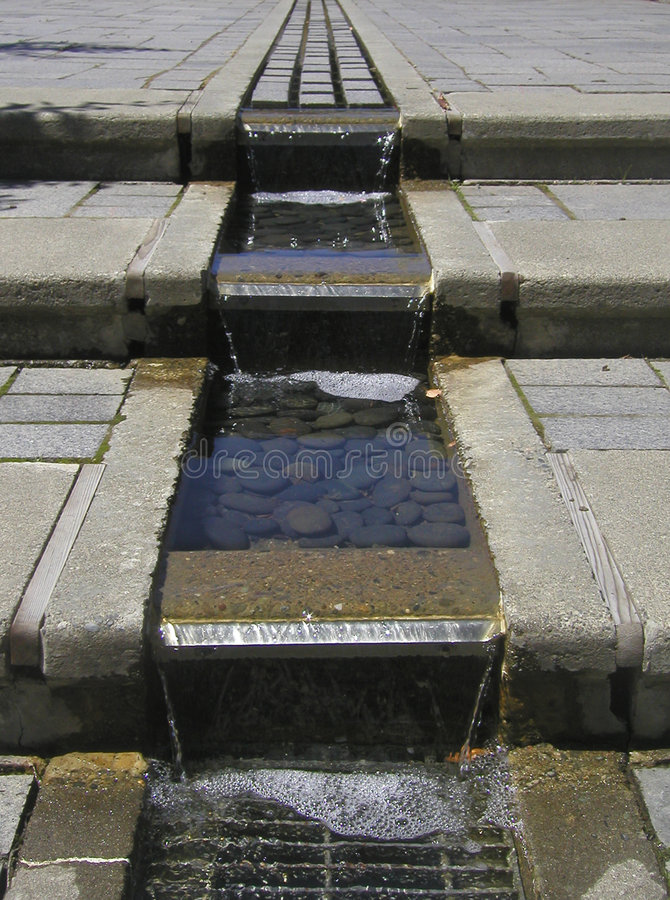 Download Watery Steps stock image. Image of cement, geometric, grate - 13035