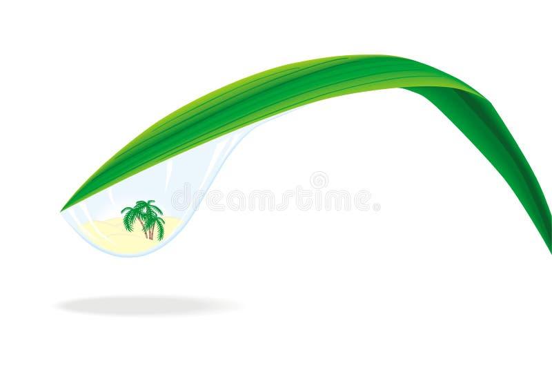 Wather blu di goccia all'interno dell'oasi illustrazione di stock